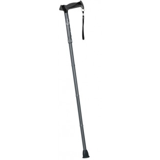 Hugo Mobility Adjustable Folding Cane with Reflective Strap, Smoke