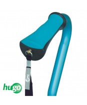 Hugo QuadPod Offset Cane with Ultra Stable Cane Tip, Aquamarine