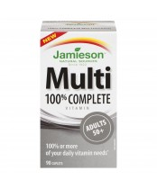 Jamieson Adults 50+ 100% Complete Multivitamin Caplets