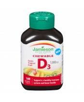 Jamieson Exotic Tropical Fruit Chewable D3