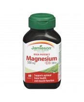Jamieson High Potency Magnesium + Vitamin D3 Caplets