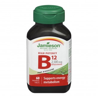 Jamieson High Potency Vitamin B12 Sublingual Tablets
