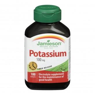 Jamieson Potassium 100 mg Timed Release