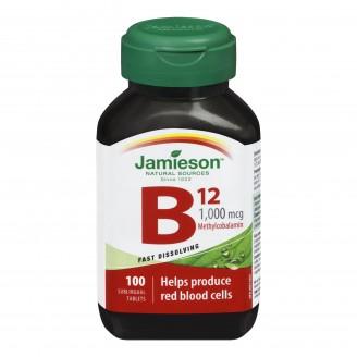 Jamieson Vitamin B12 1,000 mcg Sublingual Tablets (Methylcobalamin)