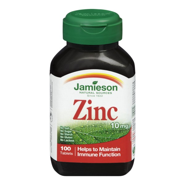 Buy Jamieson Zinc 10 mg in Canada - Free Shipping ...