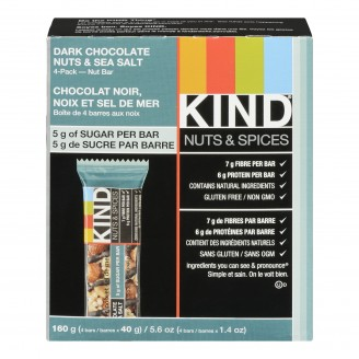 Kind Nuts and Spices Dark Chocolate Nuts and Sea Salt Bar