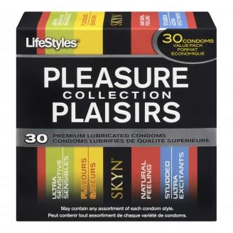 LifeStyles Pleasure Collection Premium Lubricated Condoms Value Pack