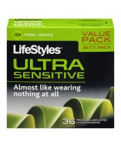 LifeStyles Ultra Sensitive Premium Lubricated Latex Condoms Value Pack
