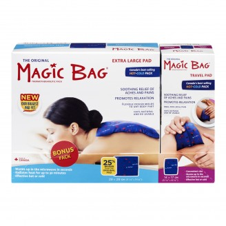 Magic Bag Hot & Cold Pack Extra Large Pad + Travel Pad Bonus Pack