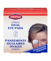 Mansfield Sterile Oval Eye Pads