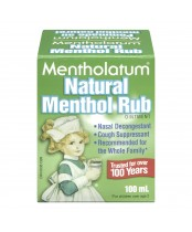 Mentholatum Natural Menthol Rub