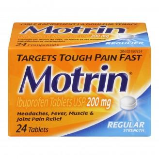 Motrin IB Regular Strength Ibuprofen Tablets