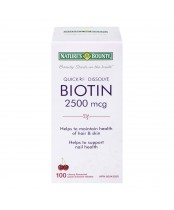 Nature's Bounty Biotin Quick Dissolve Tablets