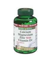 Nature's Bounty Calcium Magnesium Zinc With Vitamin D3 Caplets