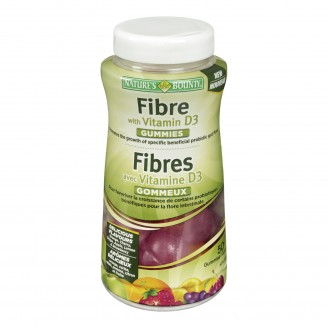 Nature's Bounty Fibre With Vitamin D3 Gummies