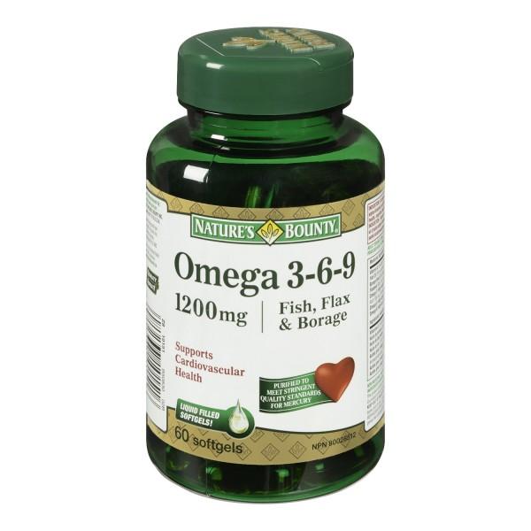 Buy nature 39 s bounty omega 3 6 9 fish flax and borage in for Fish flax and borage oil