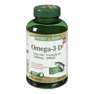 Nature's Bounty Omega-3 + D3 Fish Oil