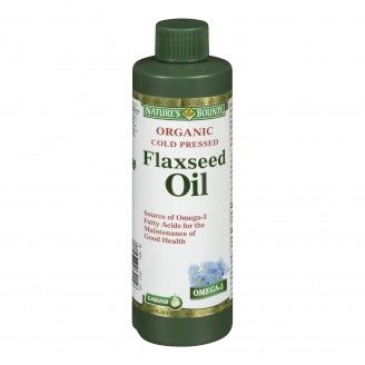 Nature's Bounty Organic Cold Pressed Flaxseed Oil Liquid