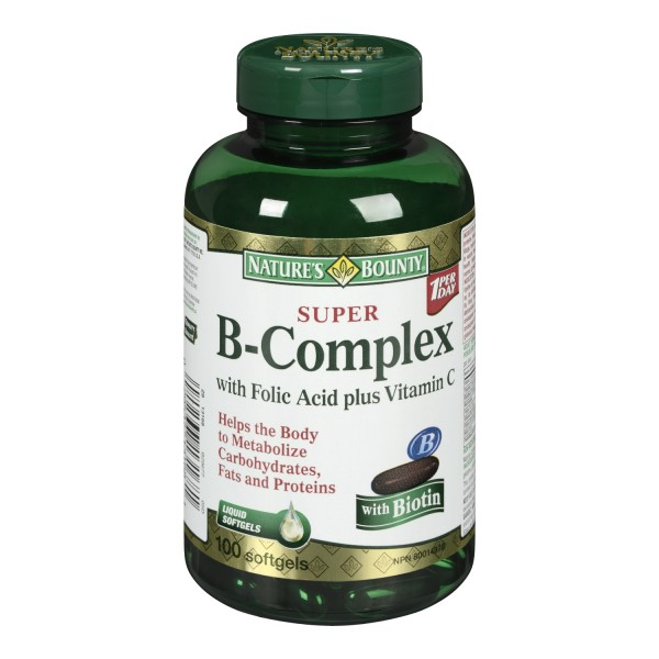 Nature S Bounty B Complex With Folic Acid Plus Vitamin C