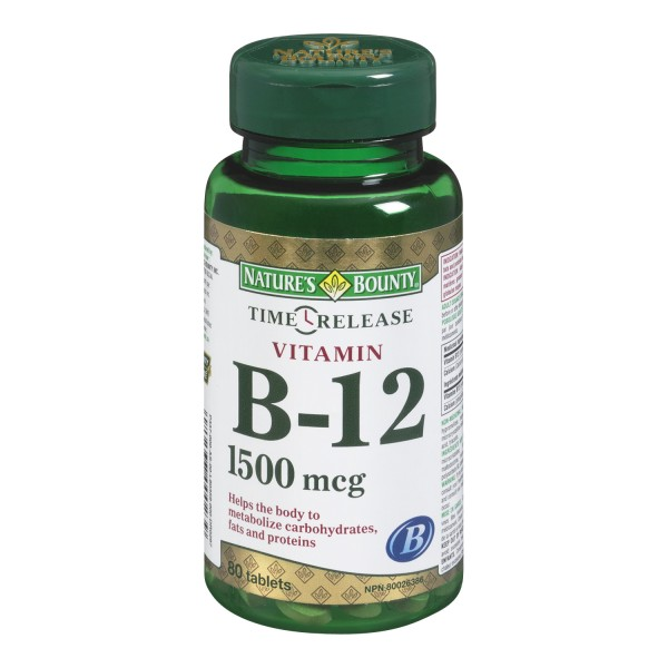 Buy Nature S Bounty Vitamin B 12 Tablets In Canada Free