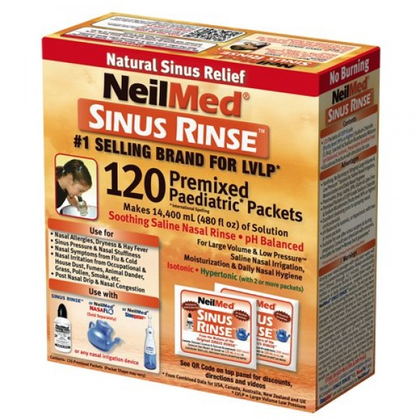Buy Neilmed Sinus Rinse Premixed Paediatric Saline Nasal
