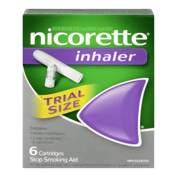 Buy Nicorette Trial Size Inhaler In Canada Free Shipping