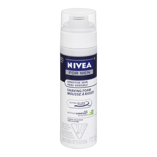 buy nivea for men sensitive skin shaving foam in canada free shipping. Black Bedroom Furniture Sets. Home Design Ideas