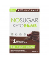 No Sugar Keto Bomb Dark Chocolate Fudge Brownie