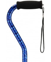 Nova Aluminum Adjustable Offset Cane, Blue Wave