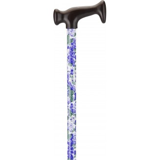 Nova Offset Cane with Strap -  Lilacs & Leaves