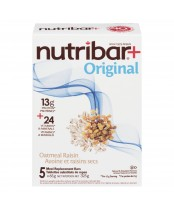 Nutribar Meal Replacement Bars Chocolate Oatmeal and Raisin