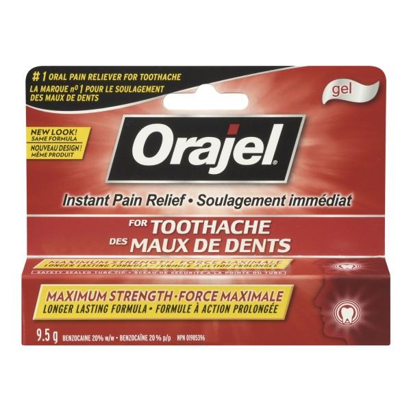 Buy Orajel Maximum Strength Toothache Pain Relief Gel In