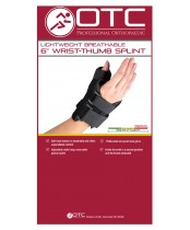 OTC Lightweight Breathable Wrist-Thumb Splint (Left Hand)