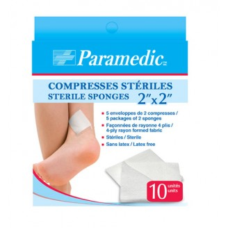 Paramedic Sterile Sponges 2 Inch x 2 Inch