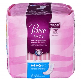 Poise Pads Long Length Moderate Absorbency