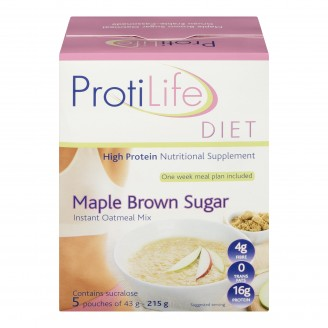 ProtiLife Diet High Protein Nutritional Supplement Instant Oatmeal Mix