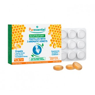 Puressentiel Respiratory Pastilles with 3 Aromatic Honeys