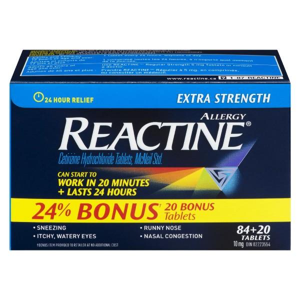 Reactine Extra Strength