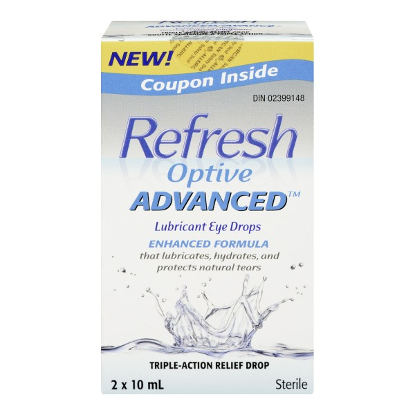 Buy Refresh Optive Advanced Lubricant Eye Drops In Canada