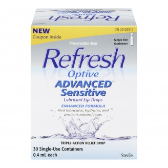 Refresh Optive Advanced Sensitive Lubricant Eye Drops