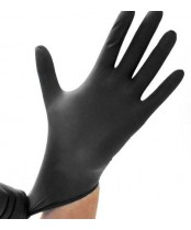 Safe-Sense Black Nitrile Powder Free Gloves - Large