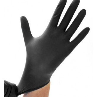 Safe-Sense Black Nitrile Powder Free Gloves - Medium