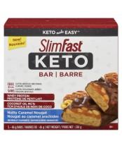 SlimFast Keto Nutty Caramel Nougat Bar