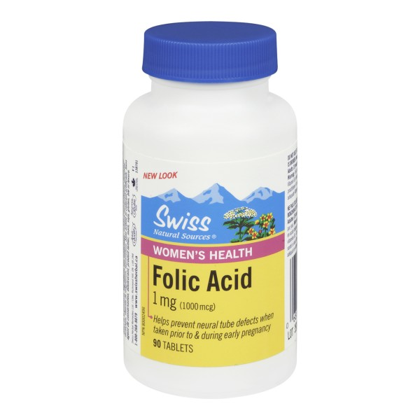 Buy Swiss Natural Sources Folic Acid In Canada Free