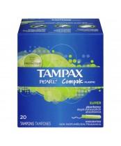 Tampax Pearl Compak Plastic Tampons