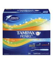 Tampax Pearl Plastic Unscented Tampons Triple Pack