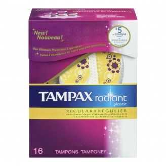 Tampax Radiant Plastic Unscented Tampons