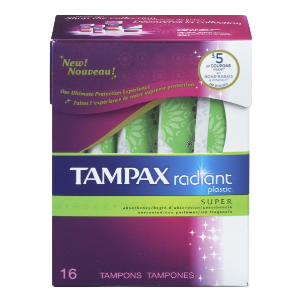 Buy tampax radiant plastic unscented tampons in canada for Radiant plexiglass