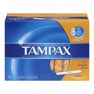 Tampax Tampons with Biodegradable Cardboard Applicator