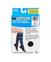 Therapy Plus Ladies Trouser Socks Black Medium